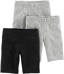 Baby and Toddler Girls 3-Pack Bike Shorts