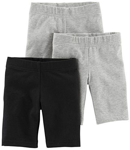 (Simple Joys by Carter's Toddler Girls' 3-Pack Bike Shorts, Black, Grey, 4T )