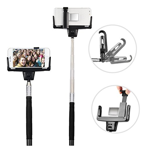 Lava Iris Fuel F1 Mini Bluetooth Selfie Stick Extendable Professional Portable Locking self-shot (Tabs 180 Fuel)