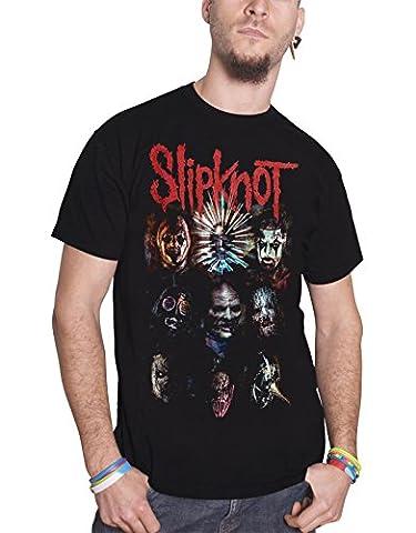 Slipknot T Shirt Prepare For Hell Tour 2014 Official Mens Black (Slipknot Jacket Women)