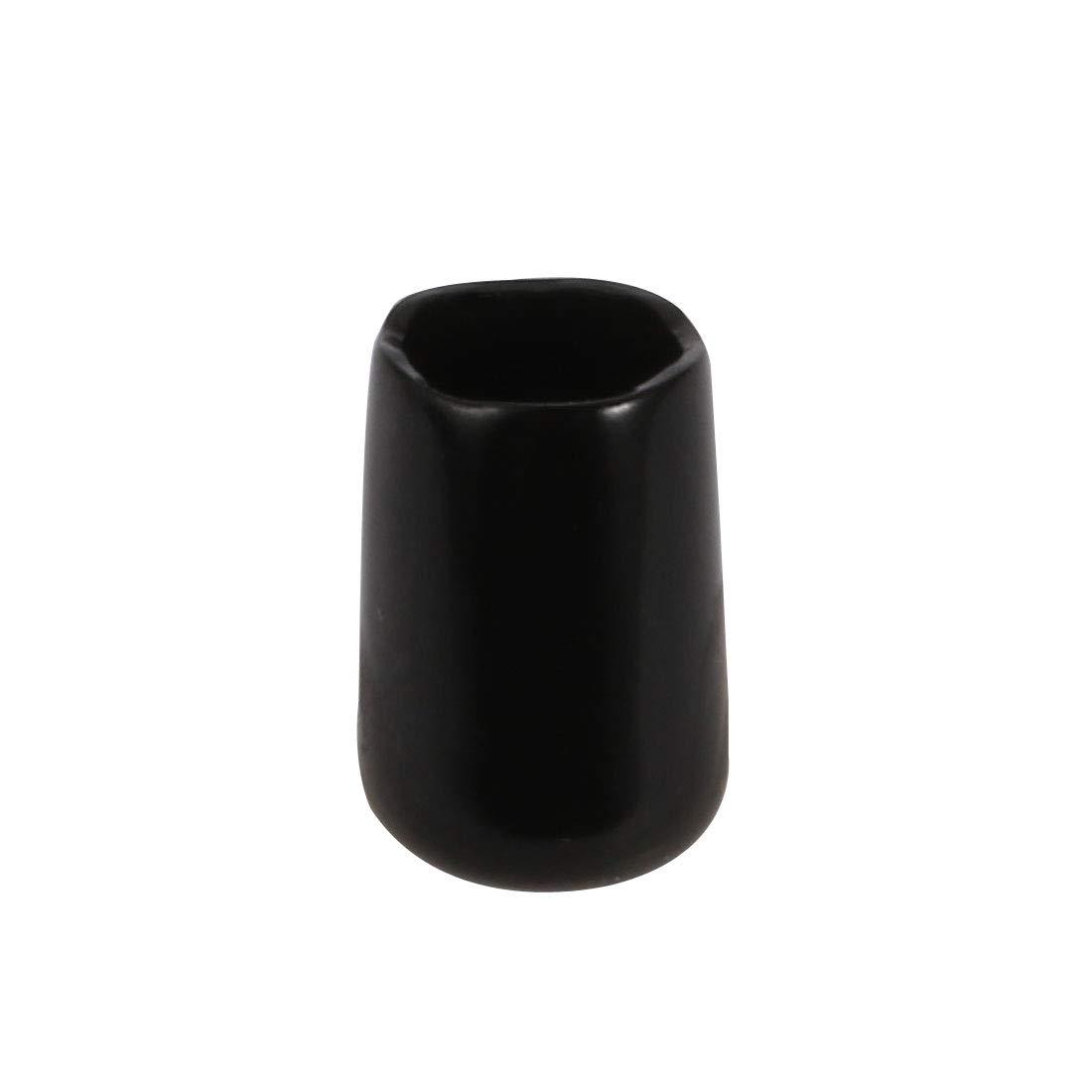 sourcing map 10pcs 8mm ID souple vinyle PVC vis Protecteur filetage Noir