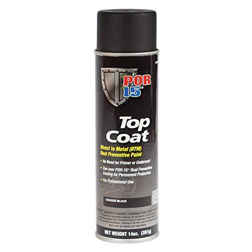 POR-15 45918 Top Coat Chassis Black Spray Paint, 15. Fluid_Ounces