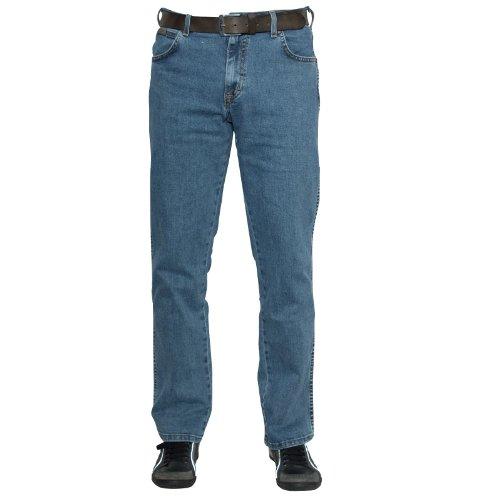 Azul Wrangler Jazz Medio Jeans para Texas Hombre Stretch fUqBUYwH