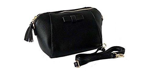 InStyle Bags - Bolso cruzados de Material Sintético para mujer Talla Unica negro