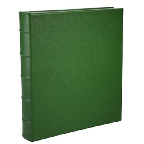 Standard 3-ring Emerald-Green Fine Calfskin Leather album with slip-in pocket pages by Graphic Image™ - 4x6