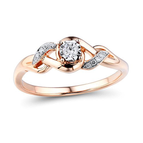 Two Tone Diamond Promise Ring - 9