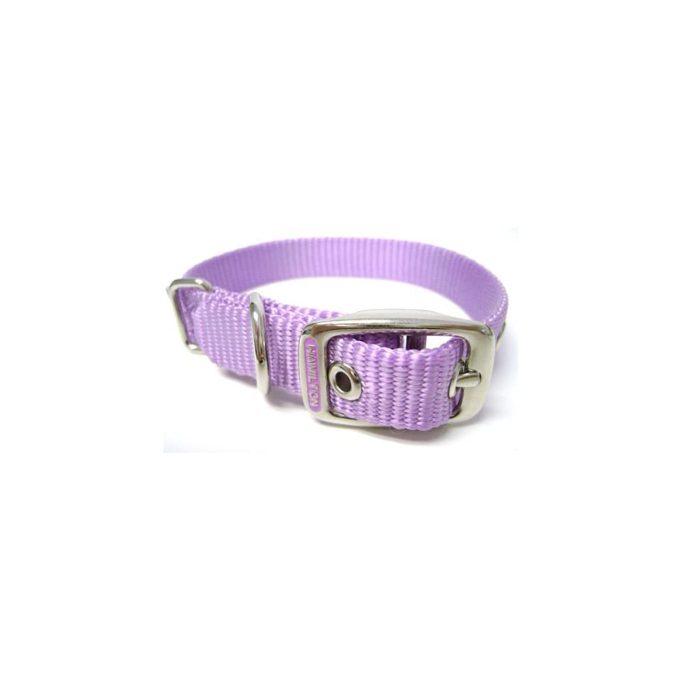 Hamilton 5/8 Inch by 18 Inch Single Thick Nylon Deluxe Dog Collar, Lavender