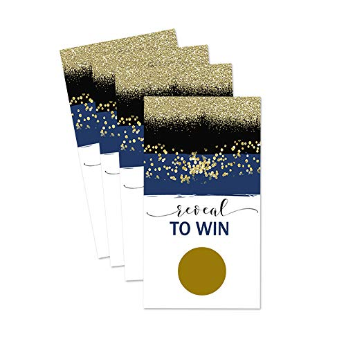 Navy and Gold Scratch Off Game - 28 Pack -