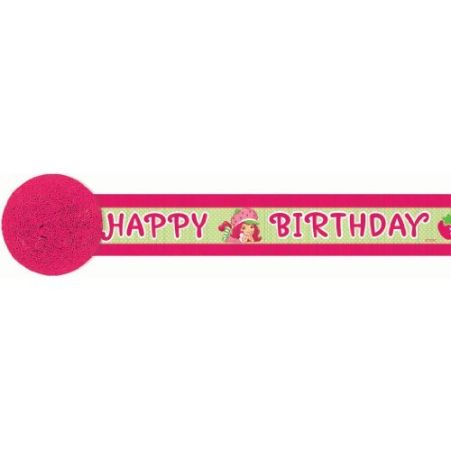 amscan Pretty Strawberry Shortcake Birthday Party Crepe Streamer Decoration (1 Piece), 30', ()