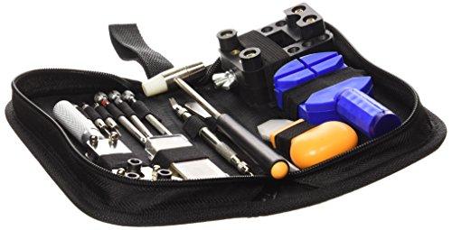 Ohuhu Professional 13 Piece Watch Repair Tool Kit Case Bonus a Hammer