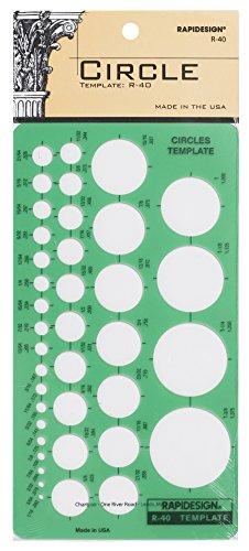 Rapidesign Circles Template, 1 Each (R40)