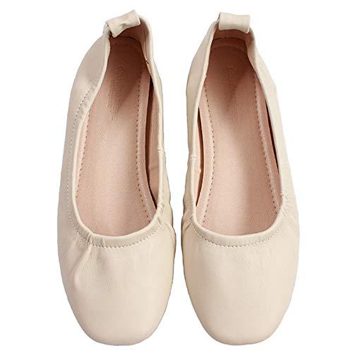 FLYRCX Zapatos Planos Ocasionales y cómodos de la Boca Baja Zapatos de Trabajo de Oficina de Las señoras Zapatos Solos Zapatos de Ballet Zapatos de Las Mujeres Embarazadas B