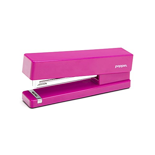 Poppin Bright Cerise Pink Cute Stapler Office Desktop Accessories (Large Image)