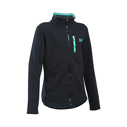 Under Armour Girls Granite Jacket  Black Stealth Gray  Youth X Large