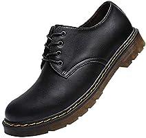 [BERLIFOOTWEAR] マーチンシューズ ワークブーツ メンズ ローカット 革靴 レースアップ エンジニアブーツ カジュアル バウンジングソール ブラック