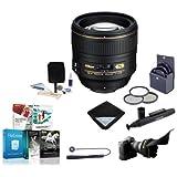 Nikon 85mm f/1.4G IF AF-S NIKKOR Lens - USA. Warranty - Accessory Bundle w/77mm Filters & Software
