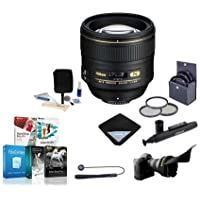 Nikon 85mm f/1.4G IF AF-S NIKKOR Lens - USA. Warranty - Accessory Bundle w/77mm Filters & Software