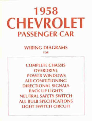 Read Online 1958 CHEVROLET CARS COMPLETE SET OF FACTORY ELECTRICAL WIRING DIAGRAMS & SCHEMATICS GUIDE 10 PAGES - INCLUDES: Delray, Biscayne, Bel Air, Yeoman, Brookwood, and Nomad CHEVY 58 pdf