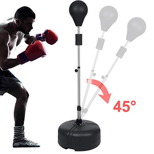 shaofu Freestanding Boxing Punching Bag Reflex Speed Punching Bags Adjustable Height for Adults Kids