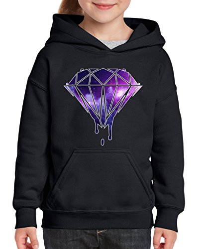 - Acacia Galaxy Diamond Unisex Hoodie For Girls and Boys Youth Sweatshirt Large Black