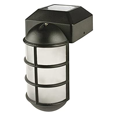 Paradise Garden Lighting Solar Cast Metal Post Cap with Frosted Plastic Lens