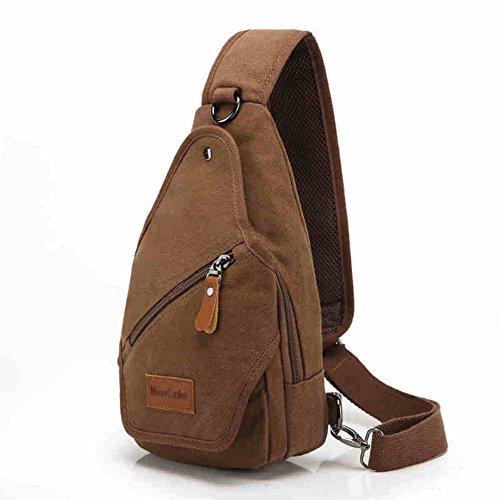 bolsa de lona Varonil pecho/Diagonal casual individual masculino hombro pecho Pack/ mochilas Ola coreana lona hombres-J J