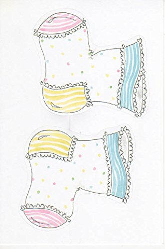Baby Booties Birth Announcement or Baby Shower Invitation