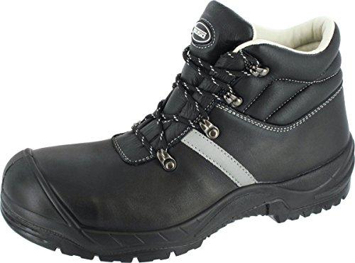 Bari Sicherheits-Schnürstiefel Sicherheits-Stiefel Weite 12 - DIN EN ISO 20345:2011 - S3 SRA - schwarz - Größe: 41