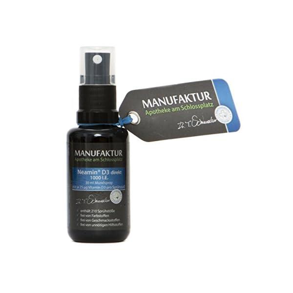 Neamin D3 Spray spray spray 1000IE, 30 ml de vitamine D3 – Spray buccal neutre au goût avec 210 pulvérisations de 1000…