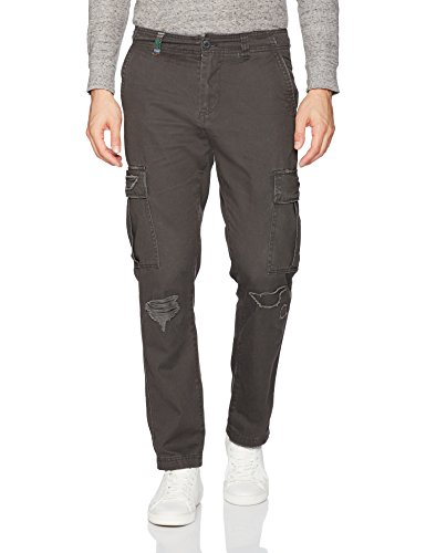 Unionbay Men's Vintage Twill Relaxed Fit Rip and Repair C...