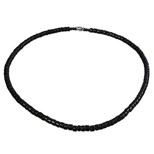 Black Surfer Necklace, Barrel Lock - Summer Hut