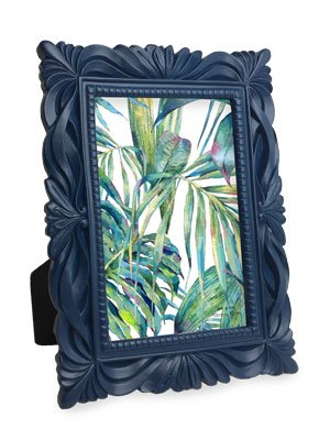 Isaac Jacobs Wave Resin Picture Frame (4x6, Navy)