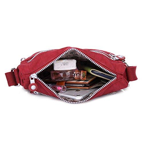 Bolsa de Lateral Bolso Bolsa Bolsa de Bandolera Diseño Bolsas Bolsos Escolares Colegio de Moda Libro Viaje Ligero Mensajero Bolsa 1 Rojo Deporte Foino Mujer R0wnqdZw