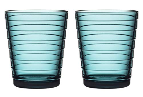 Iittala Aalto Aino Tumblers Set/2 7.75oz Sea Blue