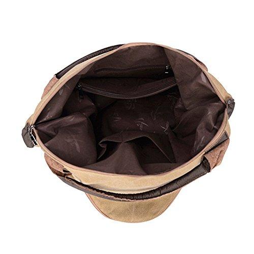 Bag Capacité Loisirs Couleur Commuter Dames Crossbody De Jxth À Sac Occasionnel Canvas Bandoulière Sacs Rétro Grande P4x0qwO