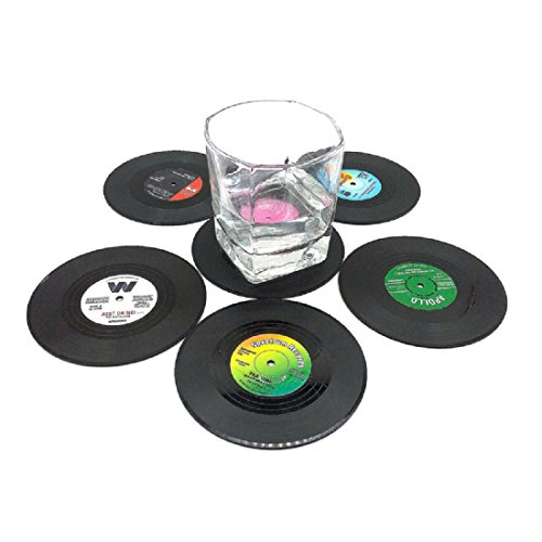 Cup Coaster,Leegor Creative Drink Placemat Spinning Retro Vinyl CD Record Drinks Coasters