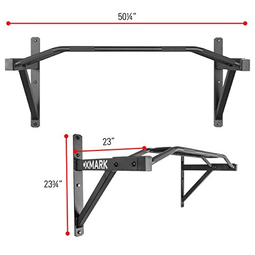 XMark Commercial Multi Grip Wall Mounted Chin Up Pull Up Bar XM 9025