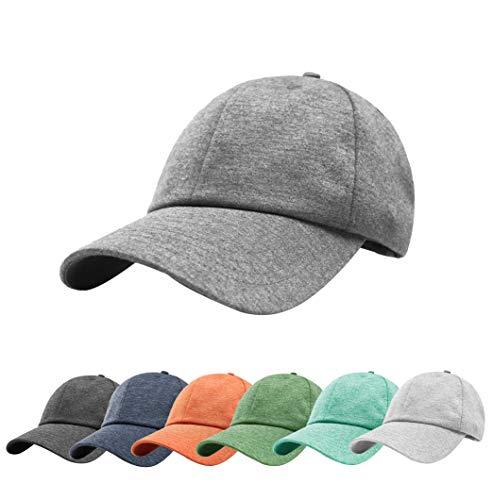 ZOWYA Classic Plain Baseball Cap-Polo Cap Unisex-Adjustable Size-Precurved Visor- Spandex Jersey Moonstruck