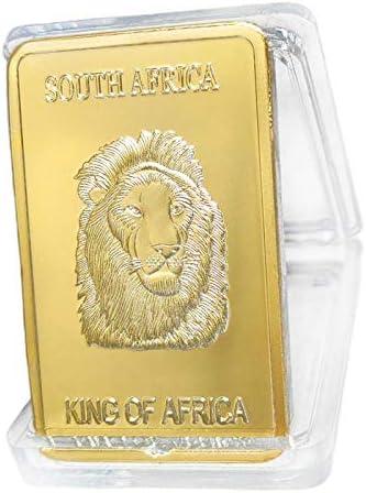 Sharplace Moneda Conmemorativa Dorada De Cobre Dorado De Sudáfrica ...
