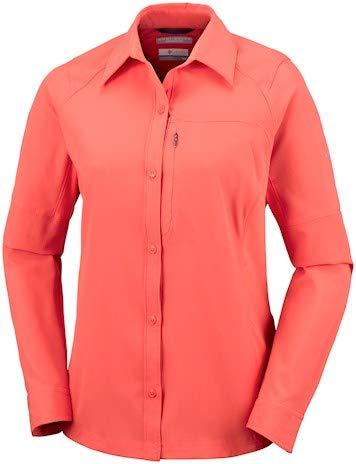 Mujer Silver Long Para Sleeve Zing Blusa Shirt Columbia Ridge xPwn07qwO