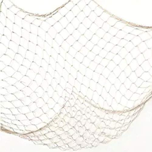 OJYUDD Fishing Net Decor, Fishnet Decor, Mediterranean Style Photographing Decoration, Natural Fish Net, Fish Net Party Accessory and Wall Table Decor (Creamy White) -