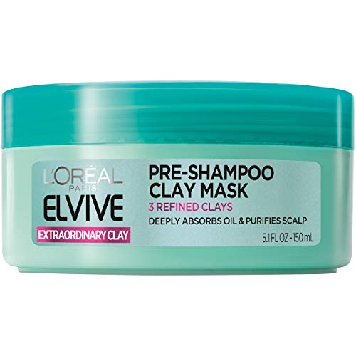 L'Oréal Paris Elvive Extraordinary Clay Pre-Shampoo Mask, 5.1 fl. oz. (Packaging May Vary)