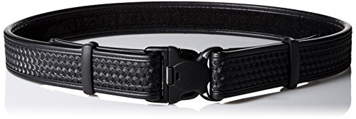 BLACKHAWK! Black Reinforced 2-Inch Basketweave Web Duty Belt with Loop Inner - XLarge (Belt Molded Loop)