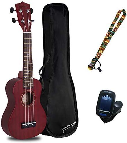 JMFinger 4-String Ukulele Wine Red (Concert Beginner 23 inch)