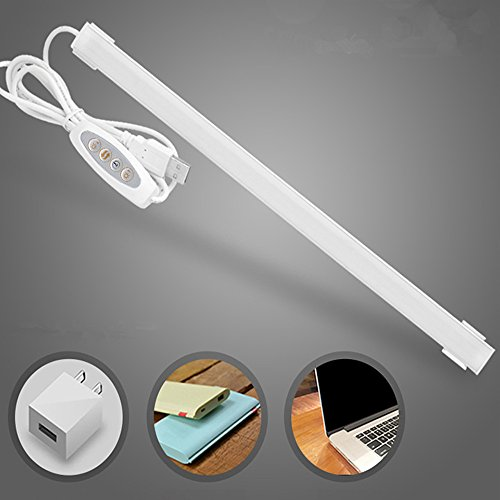 Lumen Led Strip Reading Light Usb Desk Lamp Under Cabinet Lighting 20Inch For Craft table/Bedroom/Piano/Laptop/Keyboard Dimmable Portable Warm/Cool White Natural Light In One Lamp (Wall Select Mount Cabinet)