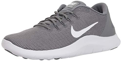 Nike Men's Flex RN 2018 Running Shoes, Cool Grey/White-Cool Grey, 12 (Nike Grey Roshe Shoes)