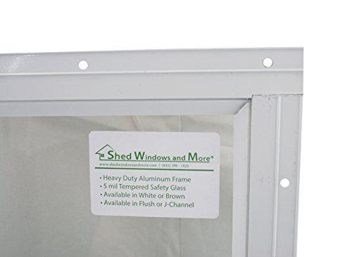 Shed Transom Window 10'' X 23'' White Flush by Shed Windows and More (Image #3)
