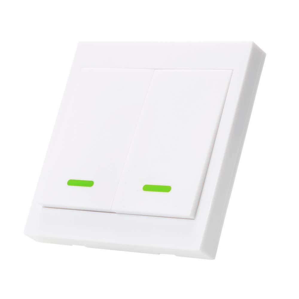 OWSOO Taster Schalter Wandleuchte Intelligenter Fernbedienung Schalter 3 Gang Schalter 433 MHz mit Google Home//Nest IFTTT und Alexa F/ür Home Wohnzimmer Schlafzimmer Arbeit