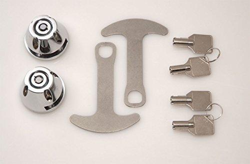 Lidlox 1032-C - Bar End Helmet Lock Pair for Kuryakyn ISO and Kinetic Grips, Chrome. (Handlebar Lock Helmet)