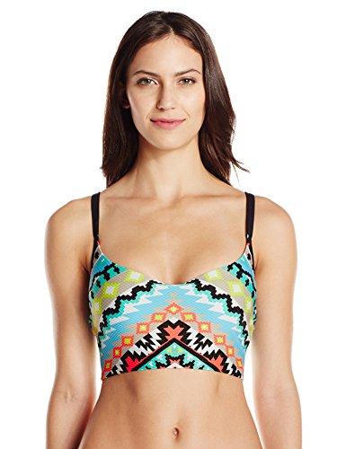 Seafolly Women's Kasbah D Cup Crop Singlet Bikini Top, Nectarine,8AUS/ 4US